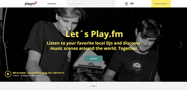 the new play.fm-screenshot